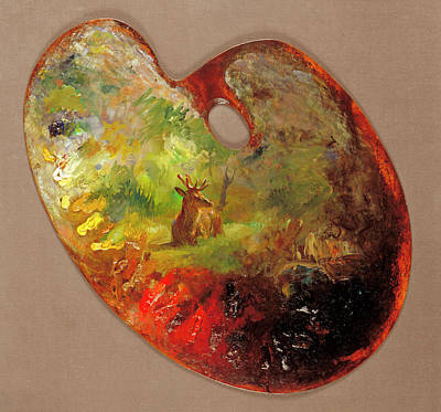 Glen Painting - Palette by Rosa Bonheur