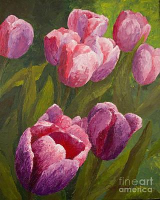 Palette Tulips Art Print