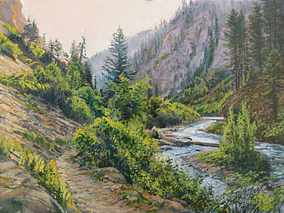 Palisades Creek  Art Print