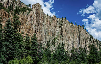 Photograph - Palisades Sill - Cimarron Canyon State Park - New Mexico by Debra Martz