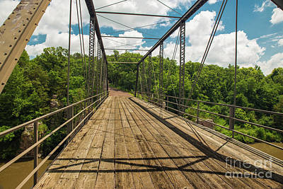 Nikki Vig Royalty-Free and Rights-Managed Images - Palisades State Park Bridge by Nikki Vig
