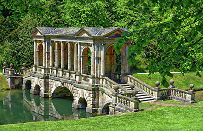 Photograph - Palladian Bridge Nature Scene by Anthony Dezenzio