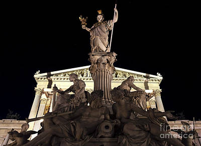 Photograph - Pallas Athena Brunnen by John Rizzuto