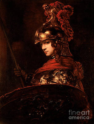 Shield Painting - Pallas Athena  by Rembrandt