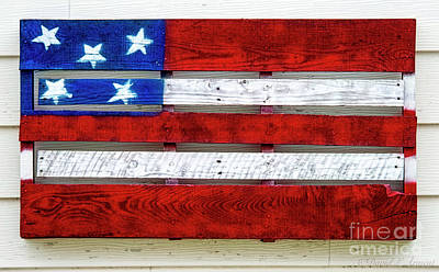 Photograph - Pallet Flag by David Arment