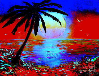 Painting - Palm - E by Greg Moores