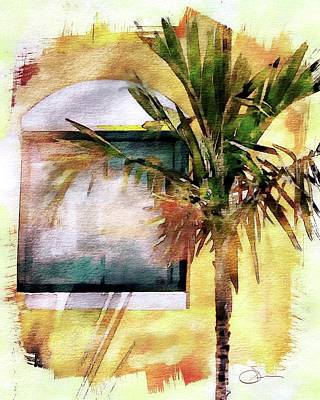 Digital Art - Palm And Window by Robert Smith