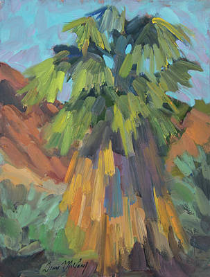 Art Print featuring the painting Palm At Santa Rosa Mountains Visitors Center by Diane McClary