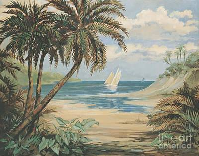 Outrigger Painting - Palm Bay by Paul Brent