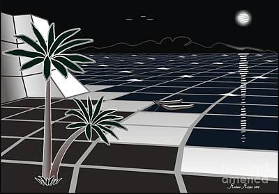 Palm Beach And Rock Original by Michael Mirijan