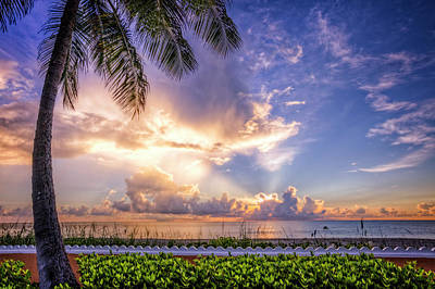 Photograph - Palm Beach At Sunrise by Debra and Dave Vanderlaan