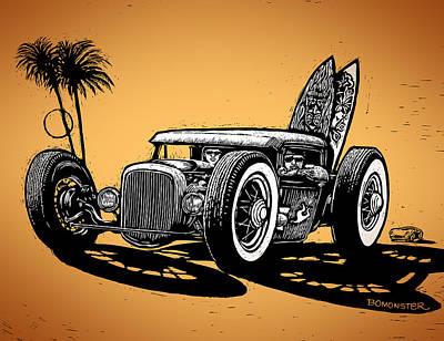 Palm Beach Art Print by Bomonster