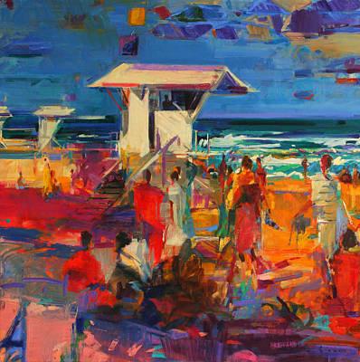 Beach Resort Vacation Painting - Palm Beach  Florida by Peter Graham