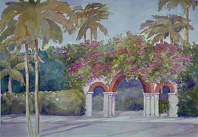 Palm Beach Gates Art Print
