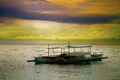 Photograph - Palm Boat Sunset by James BO Insogna