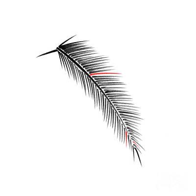Japanese Tree Drawing - Palm Branch by Konstantin Sevostyanov