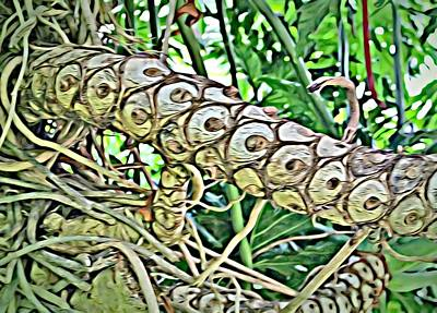 Digital Art - Palm Branch by Mindy Newman