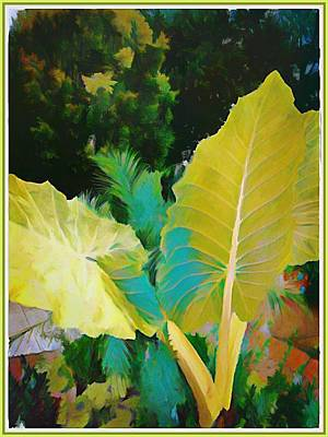 Brilliant Color Painting - Palm Branches by Mindy Newman