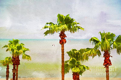 Palm Breeze Art Print by Ken Williams
