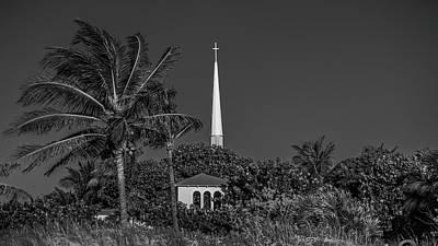 Photograph - Palm Church Steeple Delray Beach Florida by Lawrence S Richardson Jr