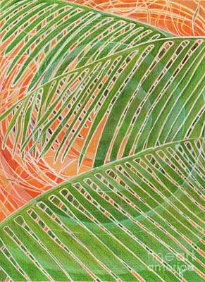 Painting - Palm Circles by Amelia at Ameliaworks