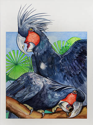 Cockatoo Painting - Palm Cockatoos by Robert Lacy