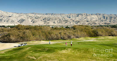 Photograph - Palm Desert Golf Fairway Mountains by David Zanzinger