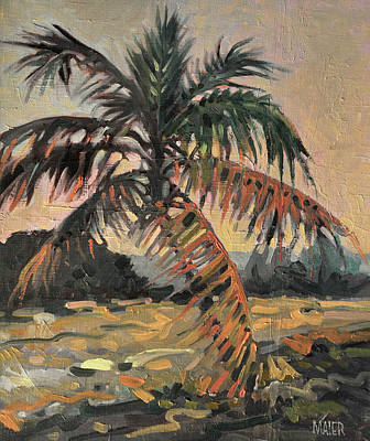 Tree Oil Painting - Palm by Donald Maier