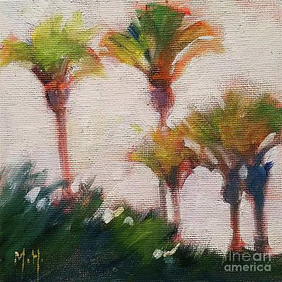 Painting - Palm Dreams Tree Sky Tropical Seashore by Mary Hubley