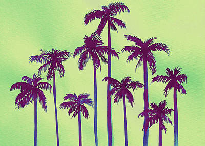 Hamas Painting - Palm Envy by Sarah DuBree