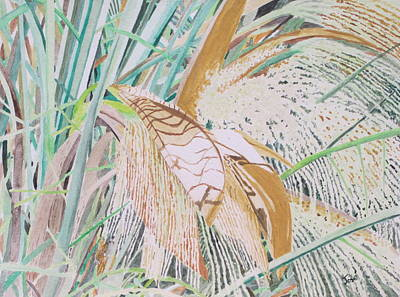 Painting - Palm Flowers by Hilda and Jose Garrancho