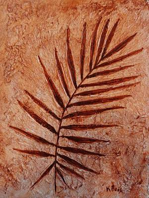 Painting - Palm Fossil by Katherine Young-Beck