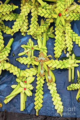 Semana Santa Wall Art - Photograph - Palm Frond Crosses For Palm Sunday by James Brunker