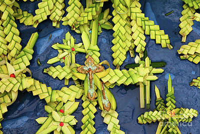 Semana Santa Wall Art - Photograph - Palm Frond Crucifix And Crosses For Palm Sunday by James Brunker