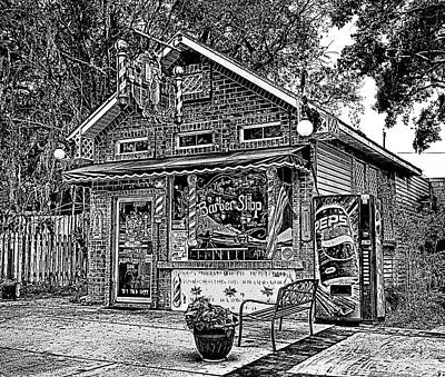 Photograph - Palm Harbor Barber Shop by C H Apperson