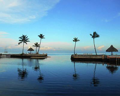 Thomas Kinkade Royalty Free Images - Palm Harbor Reflections  Royalty-Free Image by Irina Sztukowski