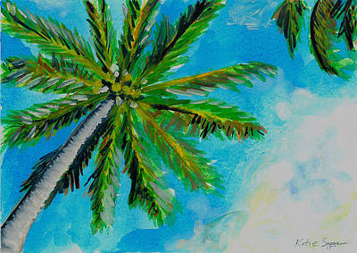 Painting - Palm In The Sky by Katie Sasser