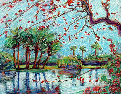 Mixed Media - Palm Island by Banning Lary