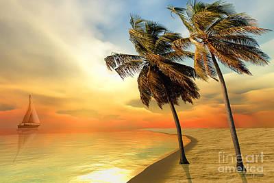 Palm Island Art Print by Corey Ford