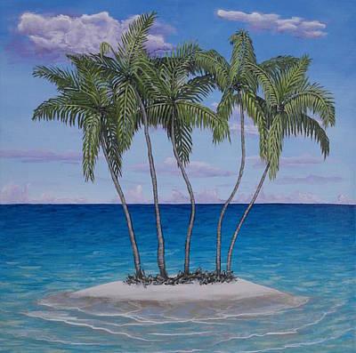 Palm Island Art Print by Wayne Cantrell