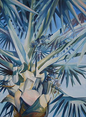 Palm Art Print by Katherine  Fyall