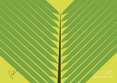 Holyland Digital Art - Palm Leaf For Sunday by Fady Dow
