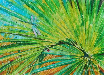 Palm Leaf Art Print by Sarah Luginbill