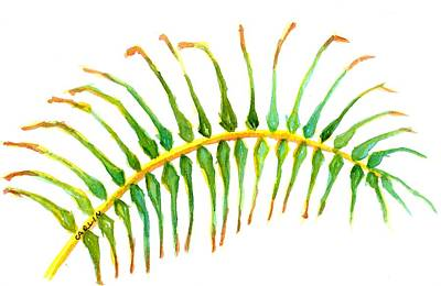 Painting - Palm Leaf Watercolor by CarlinArt Watercolor