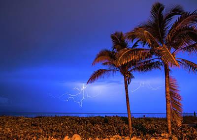 Photograph - Palm Lightning Delray Beach Florida by Lawrence S Richardson Jr