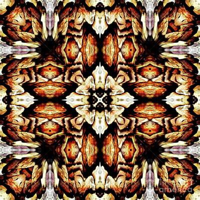 Mixed Media - Palm Mosaic by Jesus Nicolas Castanon