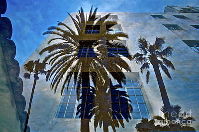 Architectural Mixed Media - Palm Mural by Gwyn Newcombe