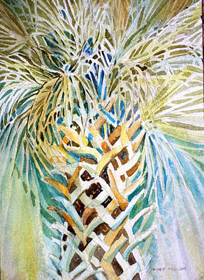 Rain Drawing - Palm On Honeymoon Island by Mindy Newman