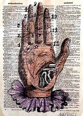 Palm reading drawings fine art america palm reading drawing palm reading by jesse temple m4hsunfo