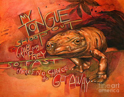 Newts Painting - Palm Salamander by Leah Jay